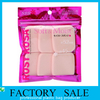 Pink color Printed heat seal edge ziplock packing bags, PET and PE laminated zip lock bags